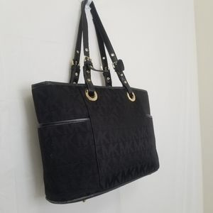 Michael Kors Black Monogrammed Tote Bag
